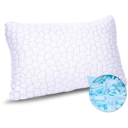 Gel-infused Shredded Memory Foam Pillow
